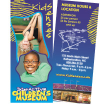 Kid Senses Interactive Children's Museum Brochure